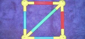 Как найти сторону квадрата, зная его диагональ