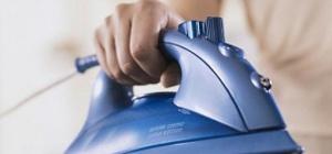 Как отчистить утюг от накипи