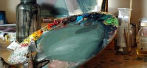 Как нарисовать море красками