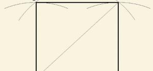 Как начертить квадрат с диагоналями
