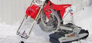Как переделать мотоцикл в снегоход