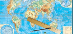 Как определить протяженность материка в километрах