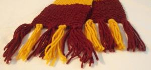 Как связать бахрому для шарфа