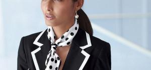Как завязать шёлковый платок