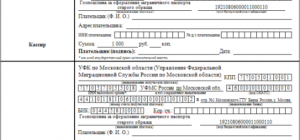 Как заполнять квитанцию госпошлины на паспорт