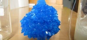 Как вырастить кристаллы медного купароса
