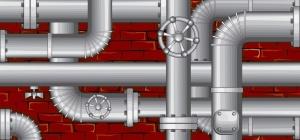 Как заделать текущие трубы отопления