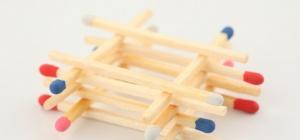 Как делать поделки из спичек