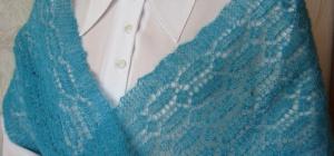 Как вязать ажурный шарф спицами