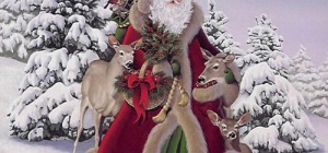 Как нарисовать Деда Мороза на стекле