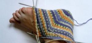Как вязать носки с пяткой
