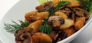 Как приготовить картофель с грибами