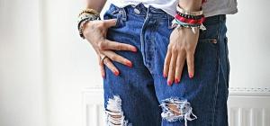 Как делать разрезы на джинсах