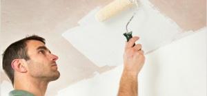 Уроки ремонта: как побелить потолок