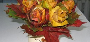 Как сделать розу из клена