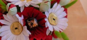 Как сделать цветок из конфет своими руками