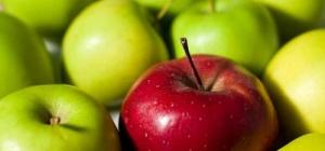 Сколько калорий в зеленых яблоках