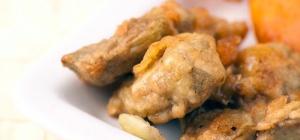 Устрицы в темпуре и арахисовом масле
