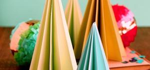 Новогодние украшения из бумаги своими руками