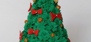 Как сделать новогоднюю елку из гофрированной бумаги