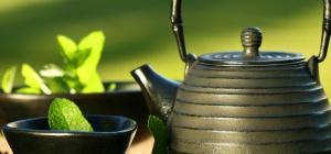 Ванночка для ног с зеленым чаем