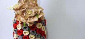 Как украсить бутылку лентами