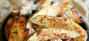 Как запечь ароматную картошку с пармезаном и чесноком