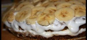 Как просто приготовить вкусный банановый торт