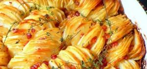 Как запечь картошку с беконом в духовке
