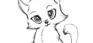 Как поэтапно нарисовать котенка  карандашом