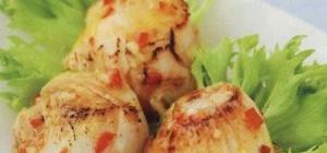 Жареные гребешки с перцем чили