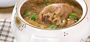 Как приготовить куриный суп с орехами