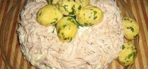 Рецепт салата «гнездо»