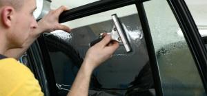 Как снять тонировку со стекол