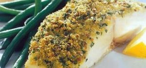 Рыбное филе в зеленой панировке