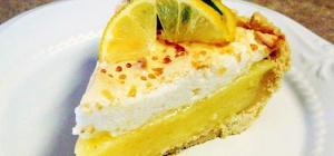 Пирог с имбирем и лимоном