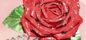 Как сделать розу из консервной банки