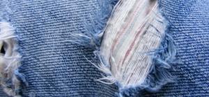 Как залатать джинсы