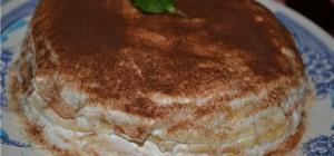 Как приготовить нежный блинный торт с бананами