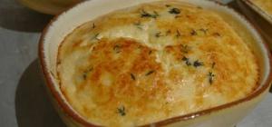 Суфле из козьего сыра и тимьяна