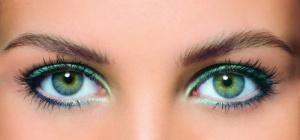 Какие тени подходят к зеленым глазам