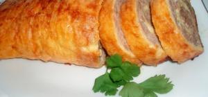Сырный рулет с яйцом