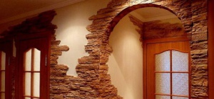 Как уложить облицовочный камень на стену