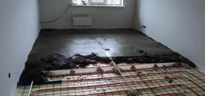 Из чего состоит бетонная стяжка водяного теплого пола