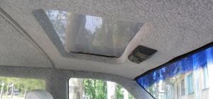 Как перетянуть потолок в машине