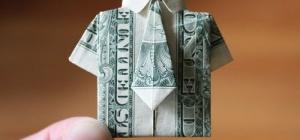 Как сложить купюру рубашкой, в виде рубашки