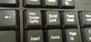 Где находится кнопка скриншота на клавиатуре