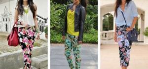 Тренды: джинсы с цветочным принтом