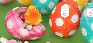 Как сделать яйцо из бумаги на Пасху