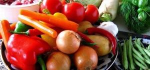 Как составить рацион при овощной диете